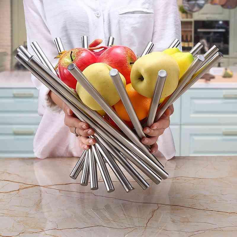 Modern Sculpture Stainless Steel Fruit Bowl