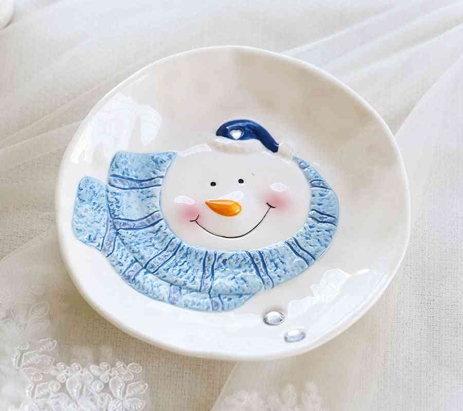 Christmas Ceramic- Ornaments And Snowman Tableware