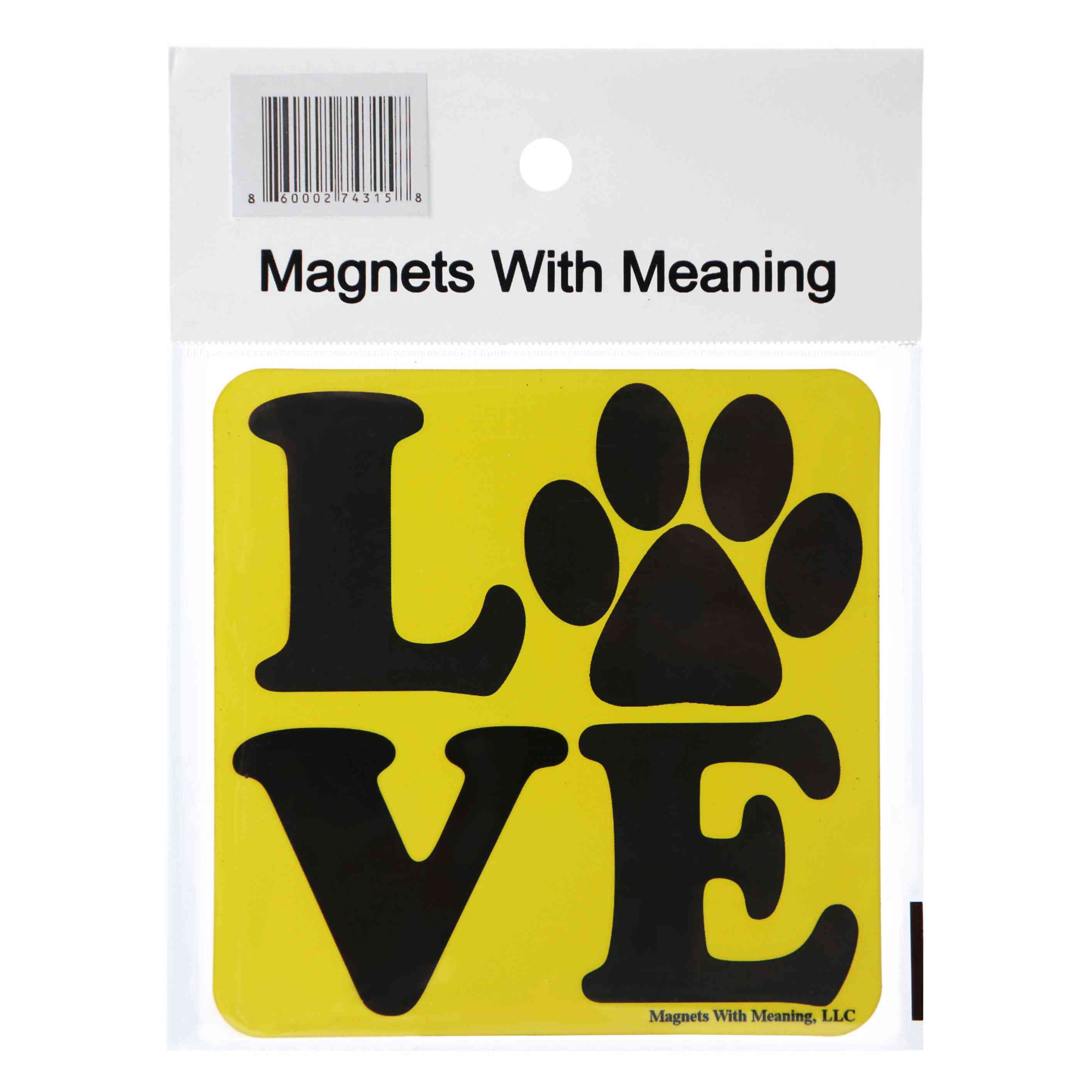 Love With Paw Refrigerator Magnet