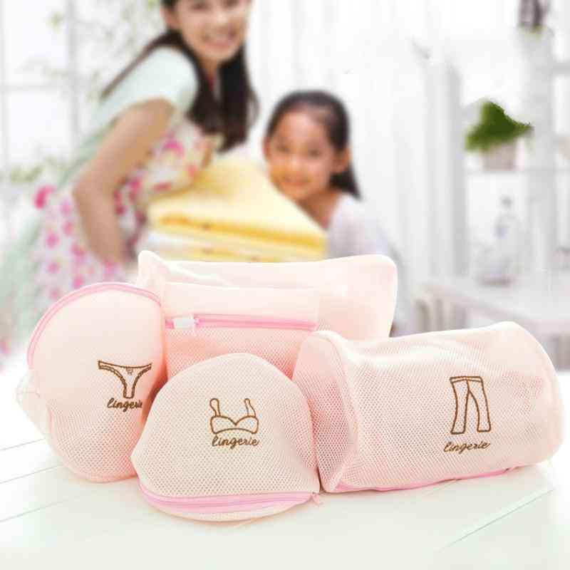 Foldable Cartoon Mesh- Laundry Wash Bags, Socks Underwear, Protection Net