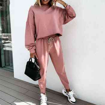 Simple Casual- Solid Color, Loose Fitness Suit