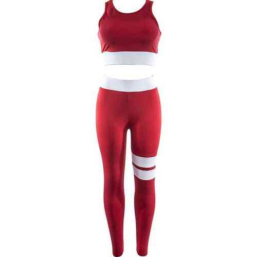 Solid Yoga Patchwork, Fitness Leggings, Sportswear Tracksuit