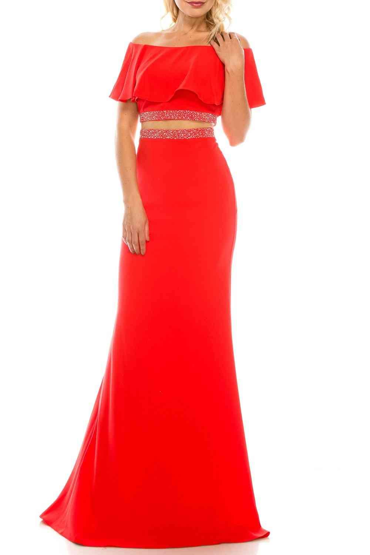 Off-shoulder, Short Cape Sleeves, Trumpet Evening Gown