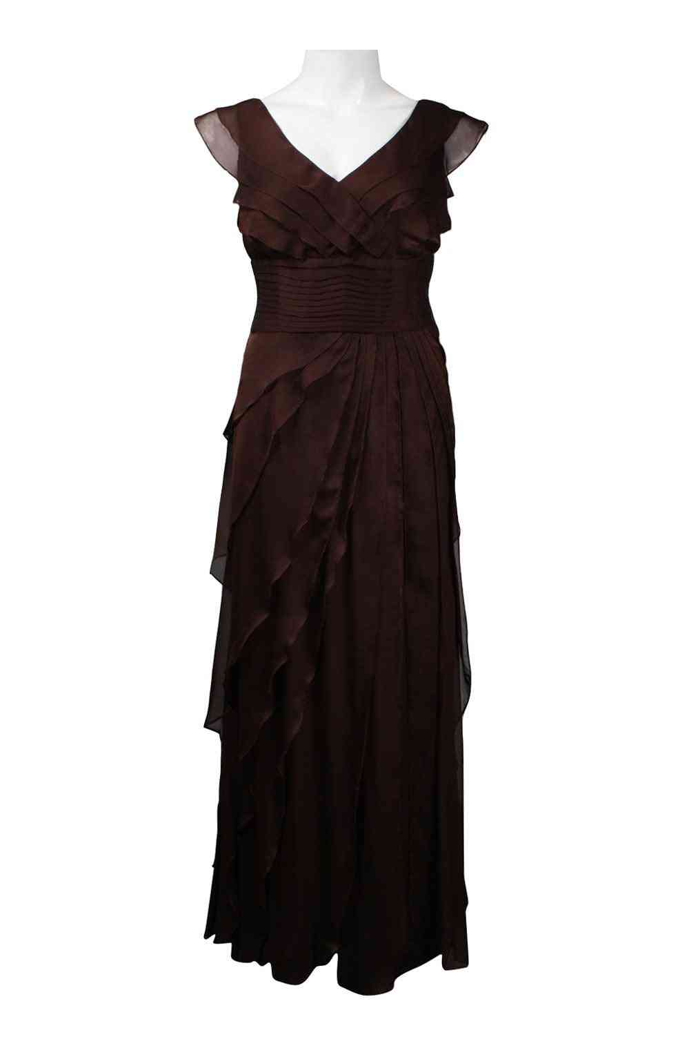 Cascading Tier Chiffon Gown