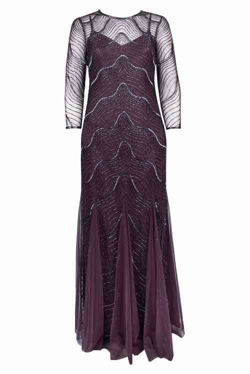 Art Deco- Beaded Tulle Gown