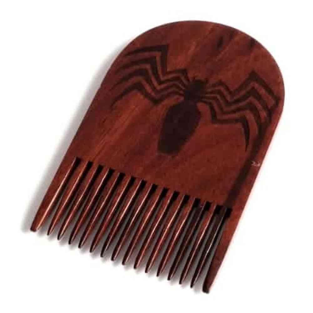 Venom Logo Wooden Beard Comb
