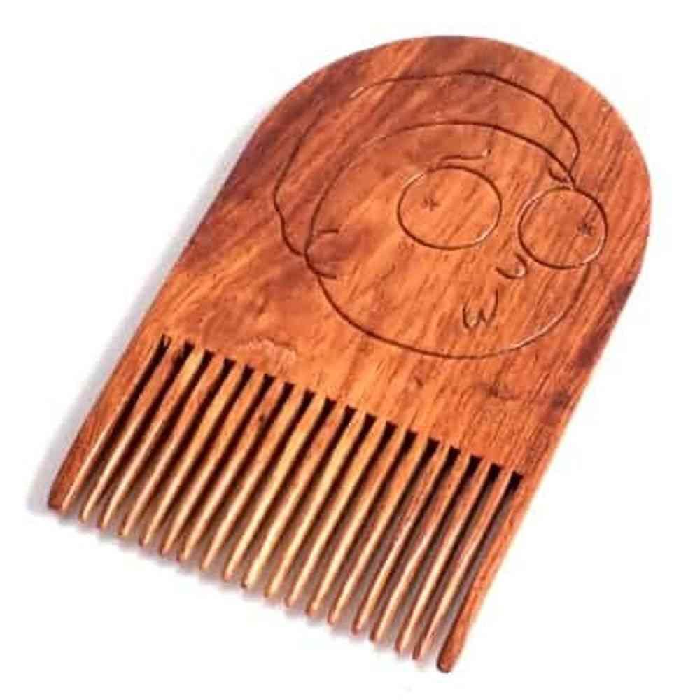 Rick & Morty Smith Wooden Beard Comb
