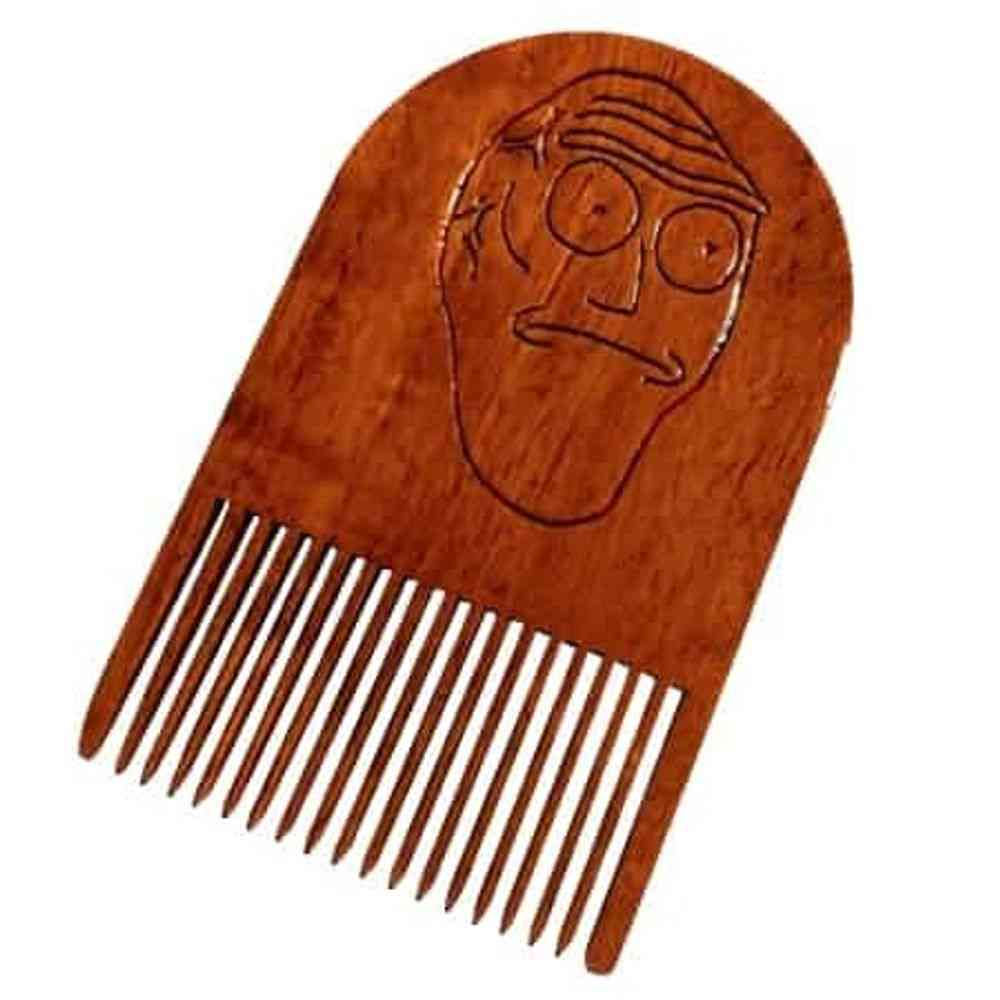 Rick & Morty Get Schwifty Wooden Beard Comb