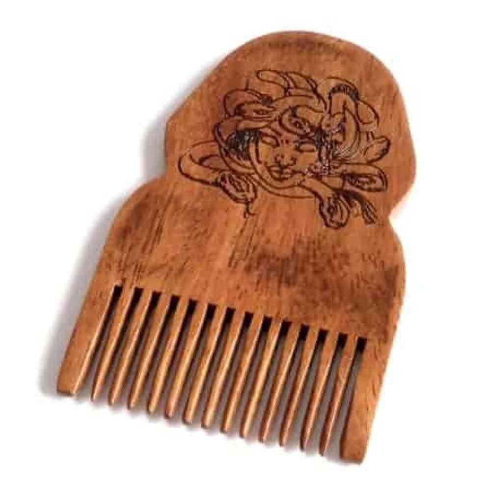 Medusa Wooden Beard Comb
