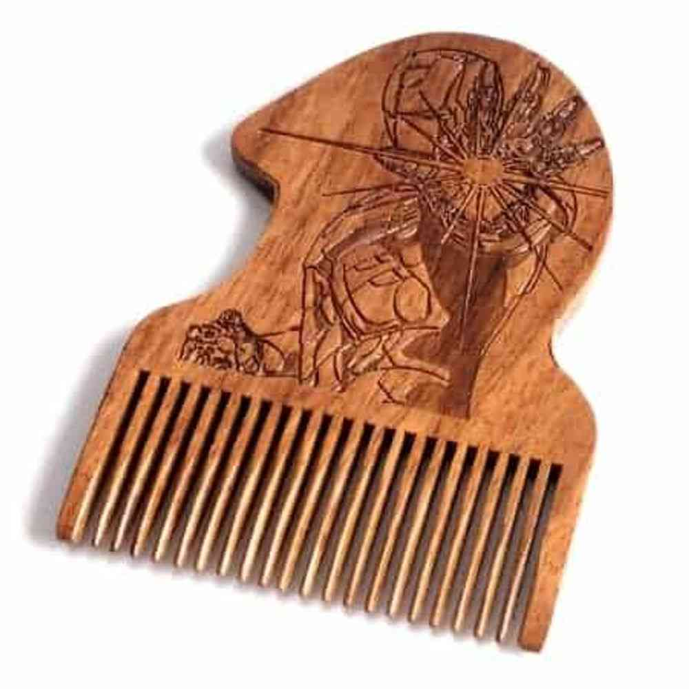 Iron Man Wooden Beard Comb