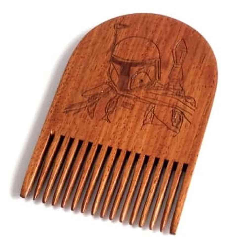 Bobba Fett Wooden Beard Comb