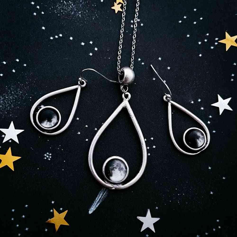My Moon- Custom Teardrop, Jewelry Set