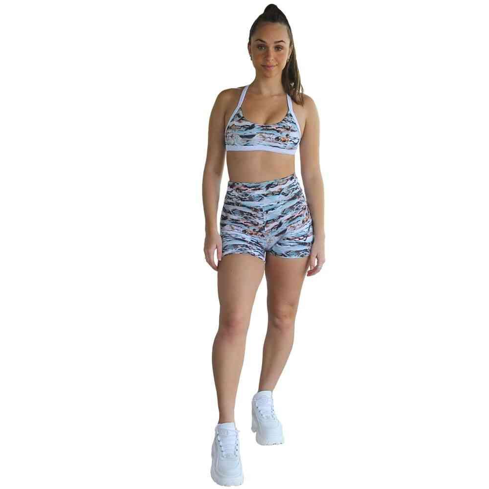 Cobra Print- Seamless High-rise Yoga Shorts