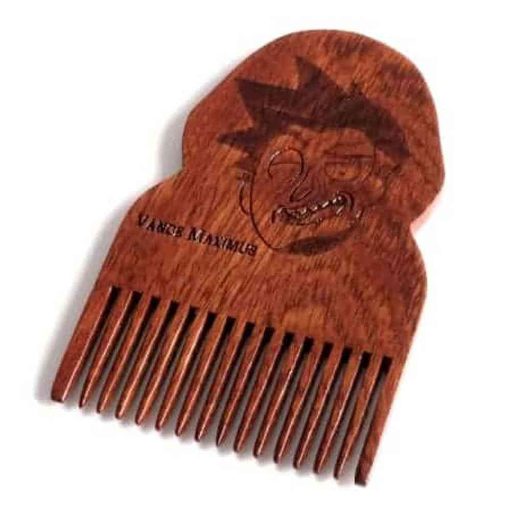 Rick & Morty Vance Maximus Wooden Beard Comb