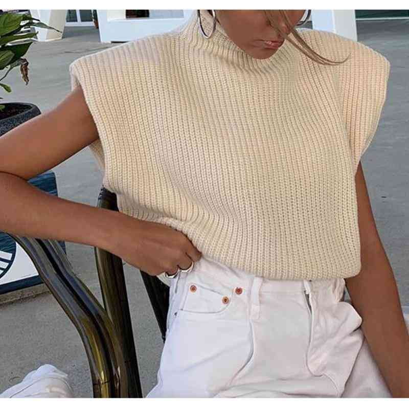 Knit Vest Women Fashion Sweater
