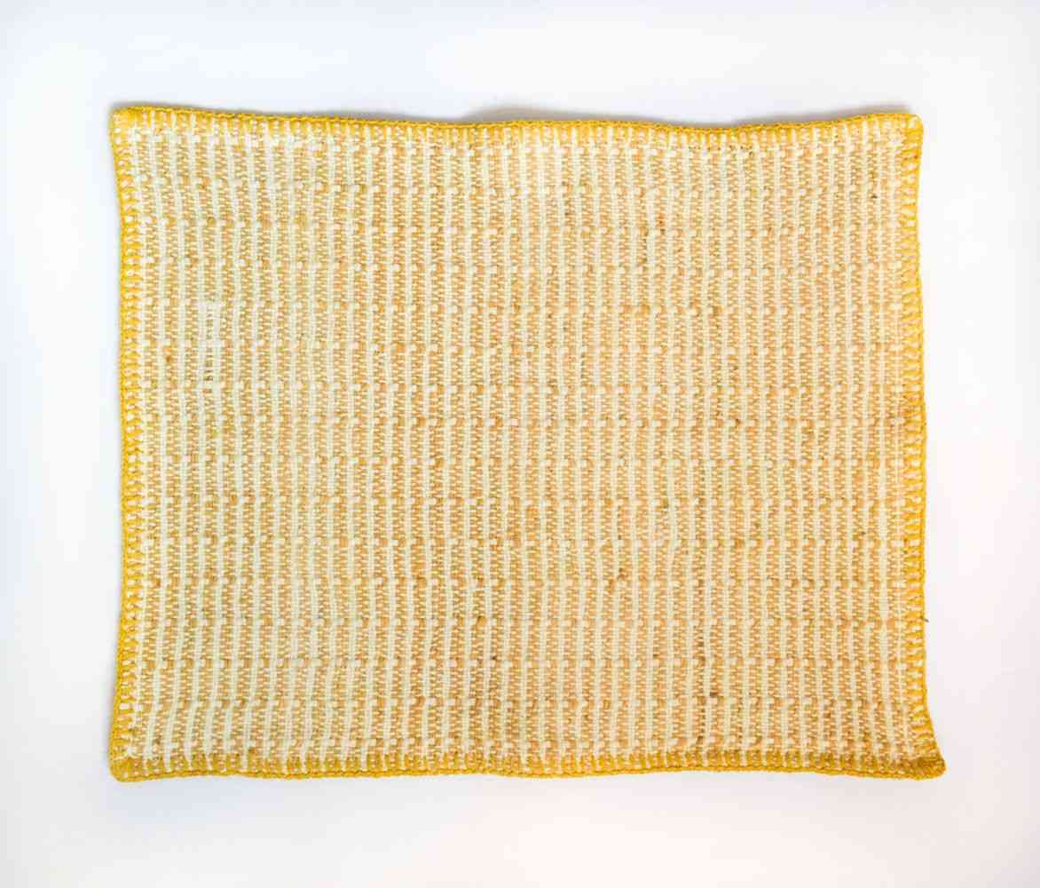 Embroidered Pitaya Yellow Placemat  (set Of 4)