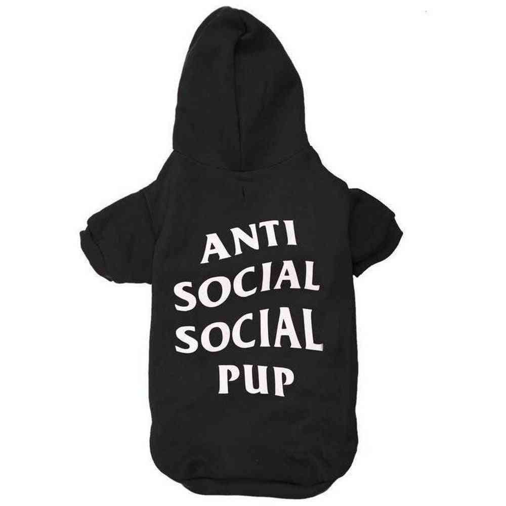 Anti Social Social Pup Hoodie | Dog Clothing