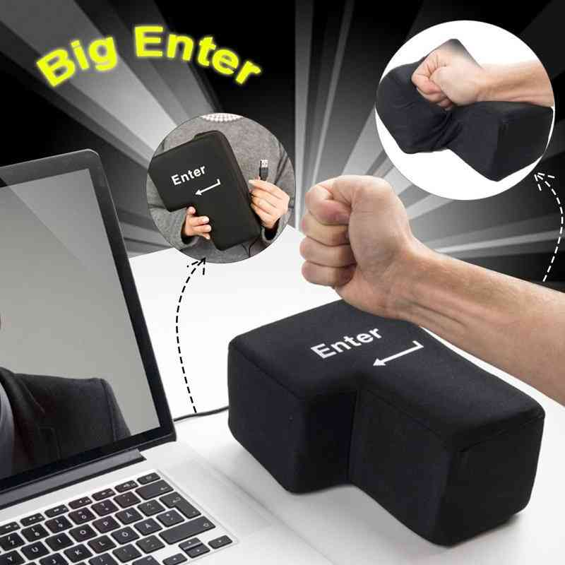 Large Enter Key Pillow