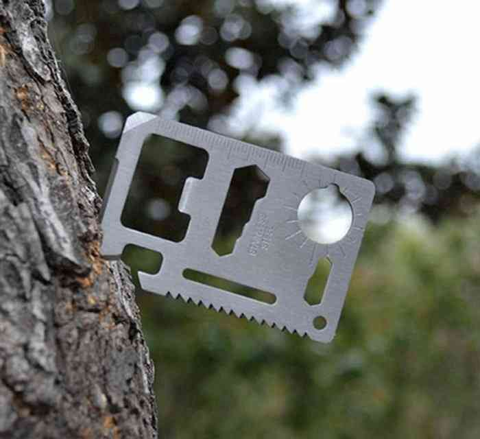 Card-sized Opener Survival Tool