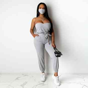 Sexy Solid Tops And Long Pants