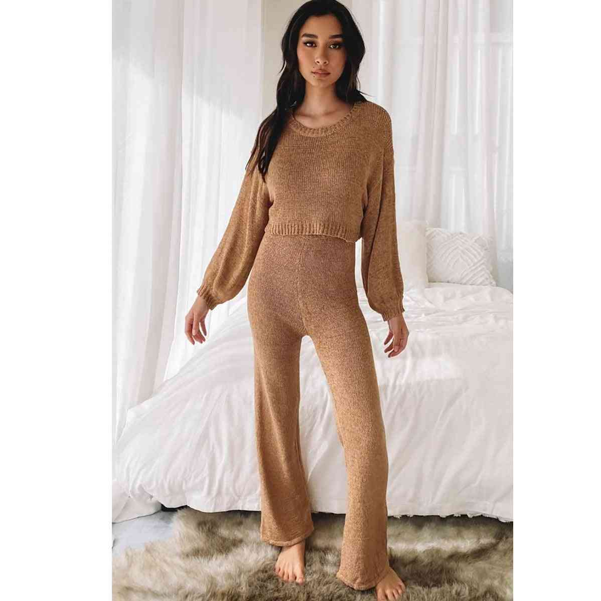 Women Set Tops And Pants Tracksuit