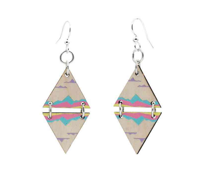 Mirrored Landscape Blossoms Earrings
