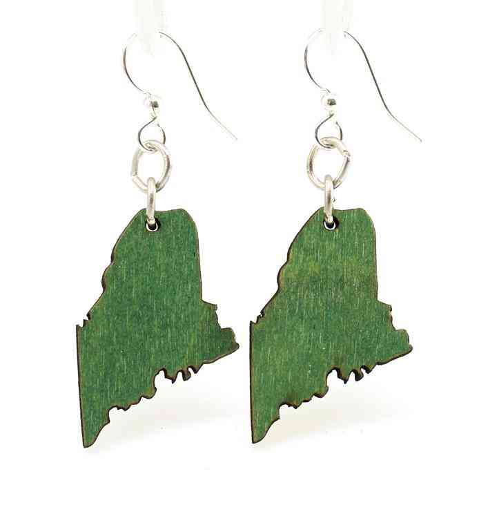 Maine State Earrings - S019