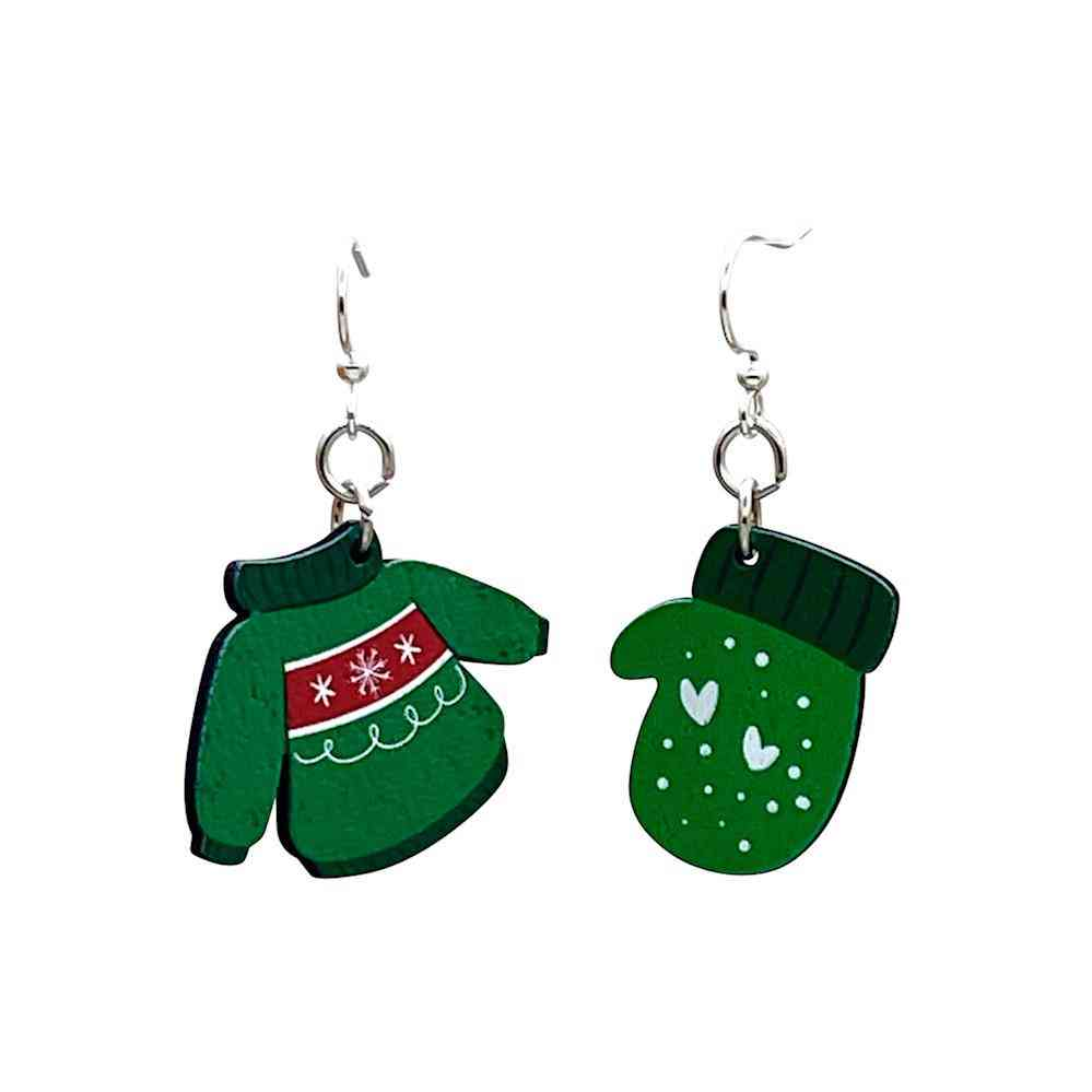 Christmas Sweater And Mittens Earrings #t063