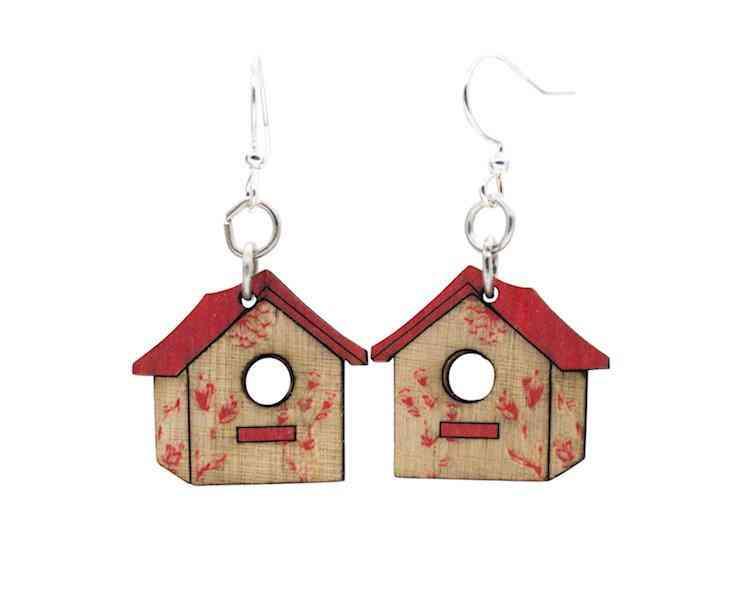 Bird House Blossom Earrings #185