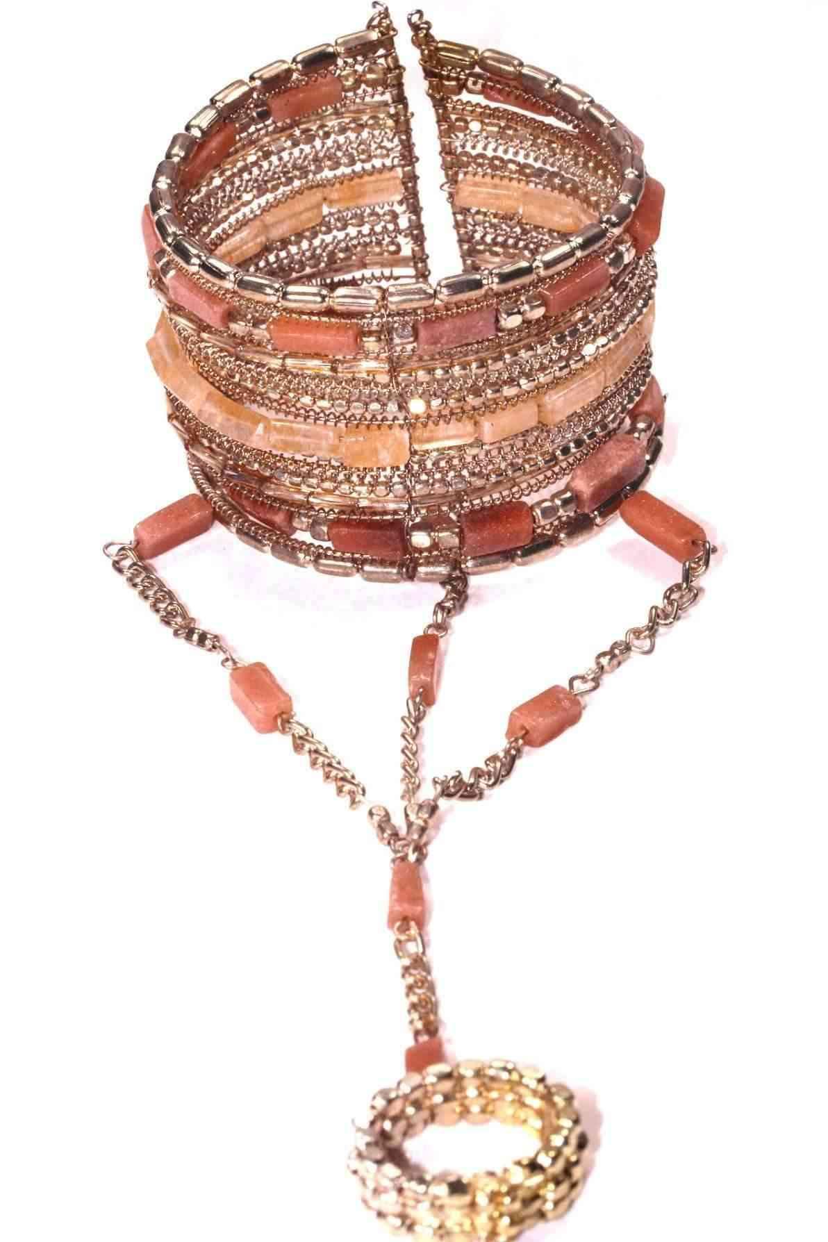 Exotic Gemstone Bangles & Ring