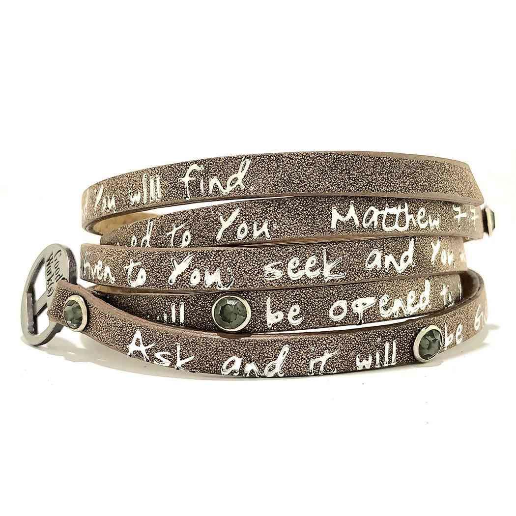 Bible Verse Wrap Around  Bracelete
