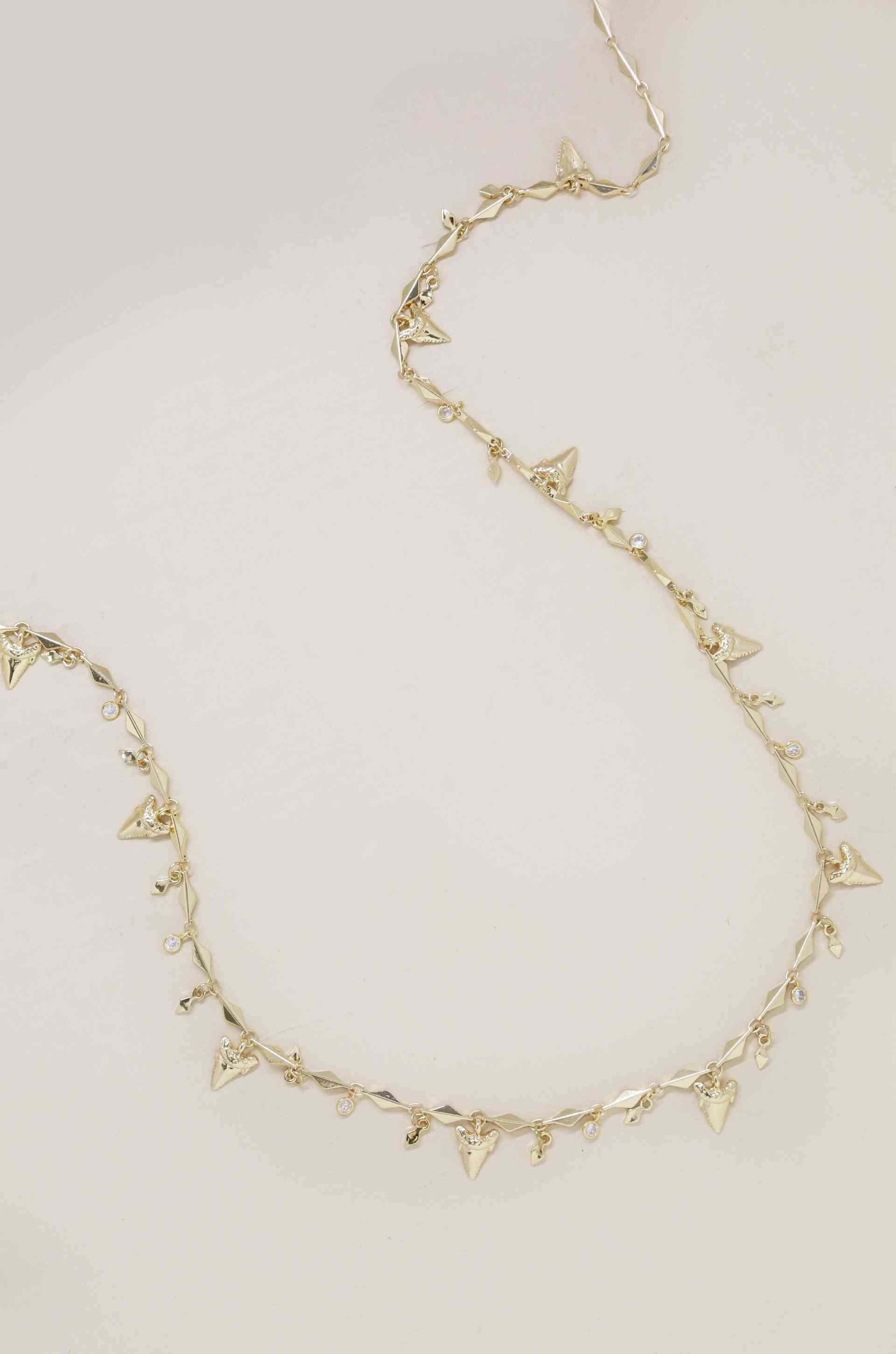 Shark Tooth Fringe Belly Chain