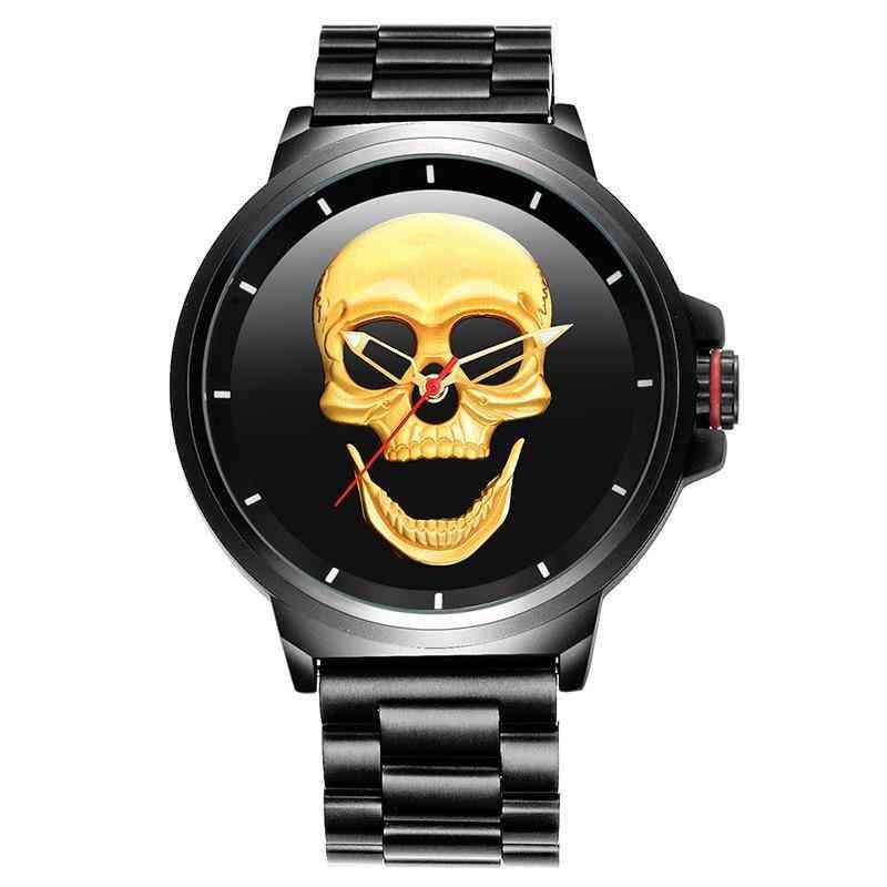 Skull Style Quartz Watch Sports Watch