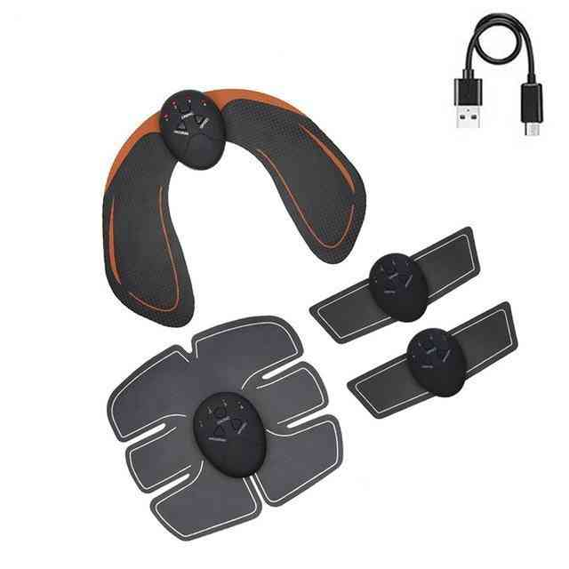 Ems Usb Charging Muscle Stimulator Fitness  Buttock Abdominal Trainer