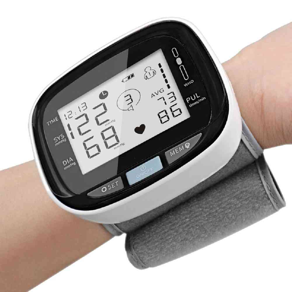 Digital Wrist Blood Pressure Monitor Beat Rate Meter Device Equipment