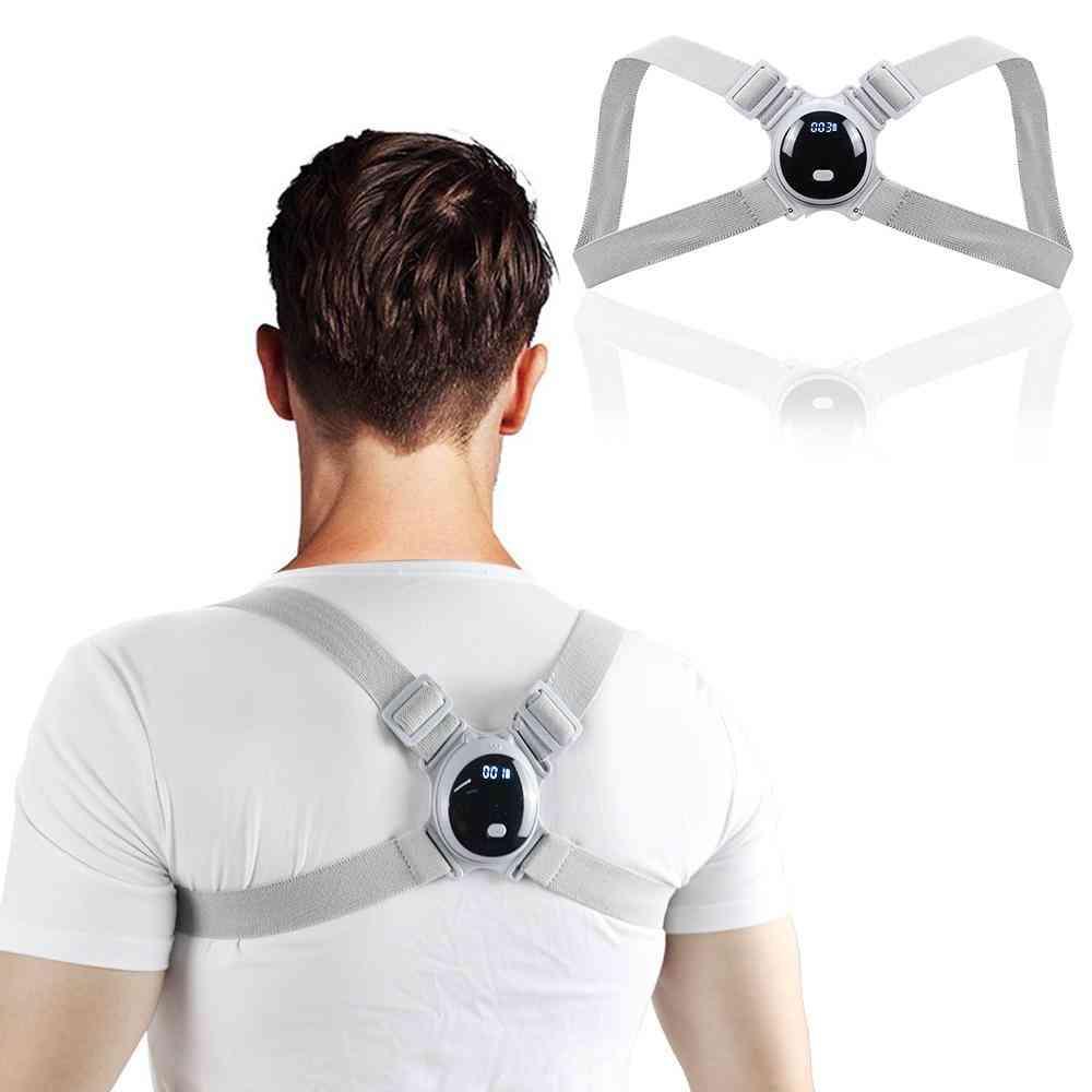 Lcd Screen Smart Back Posture Corrector Improve Spine Hunchback