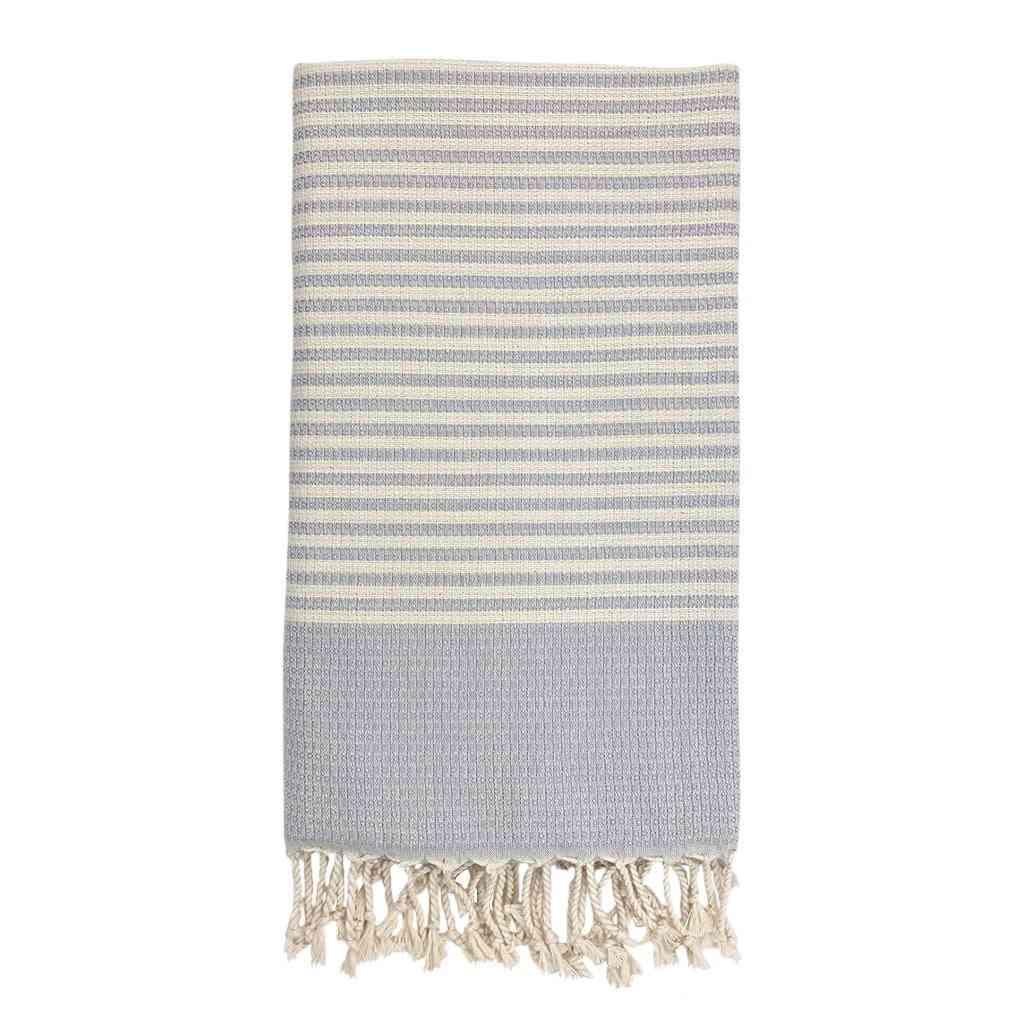 Textured Stripe Turkish Towel