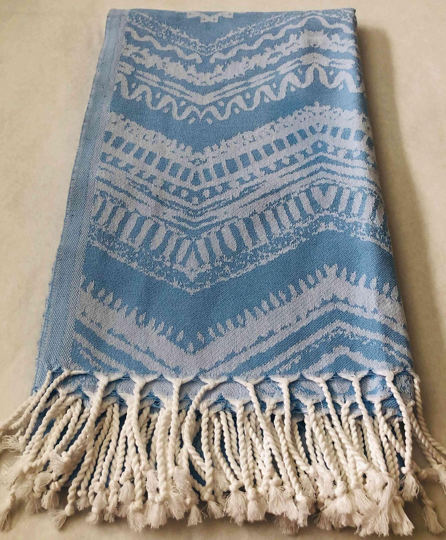 Blue Boho- 100% Natural Cotton Turkish Towel