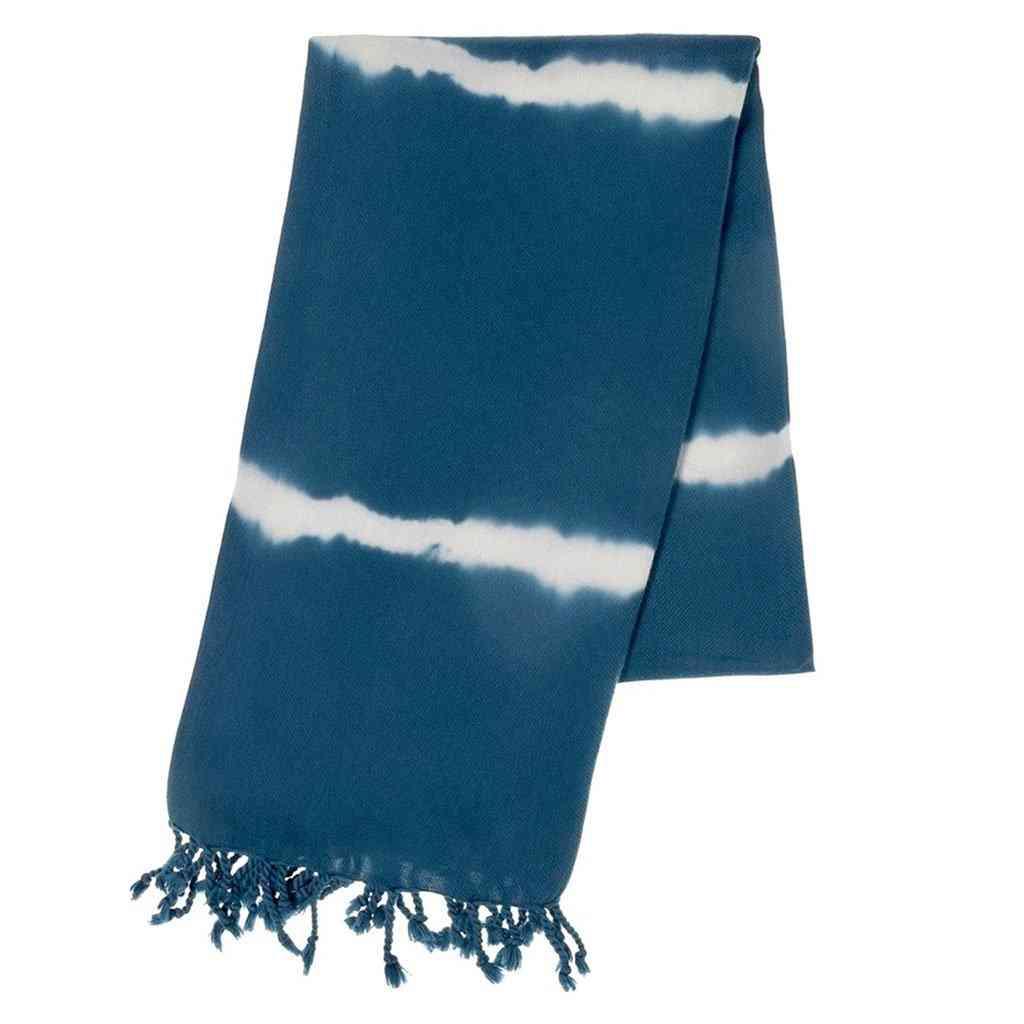 Navy Tie Dye Turkish Beach Towel