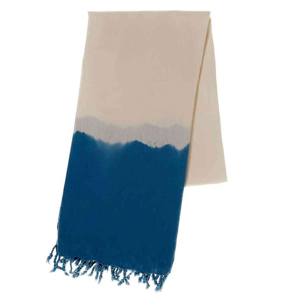 Navy Dip Dye Turkish Beach Towel