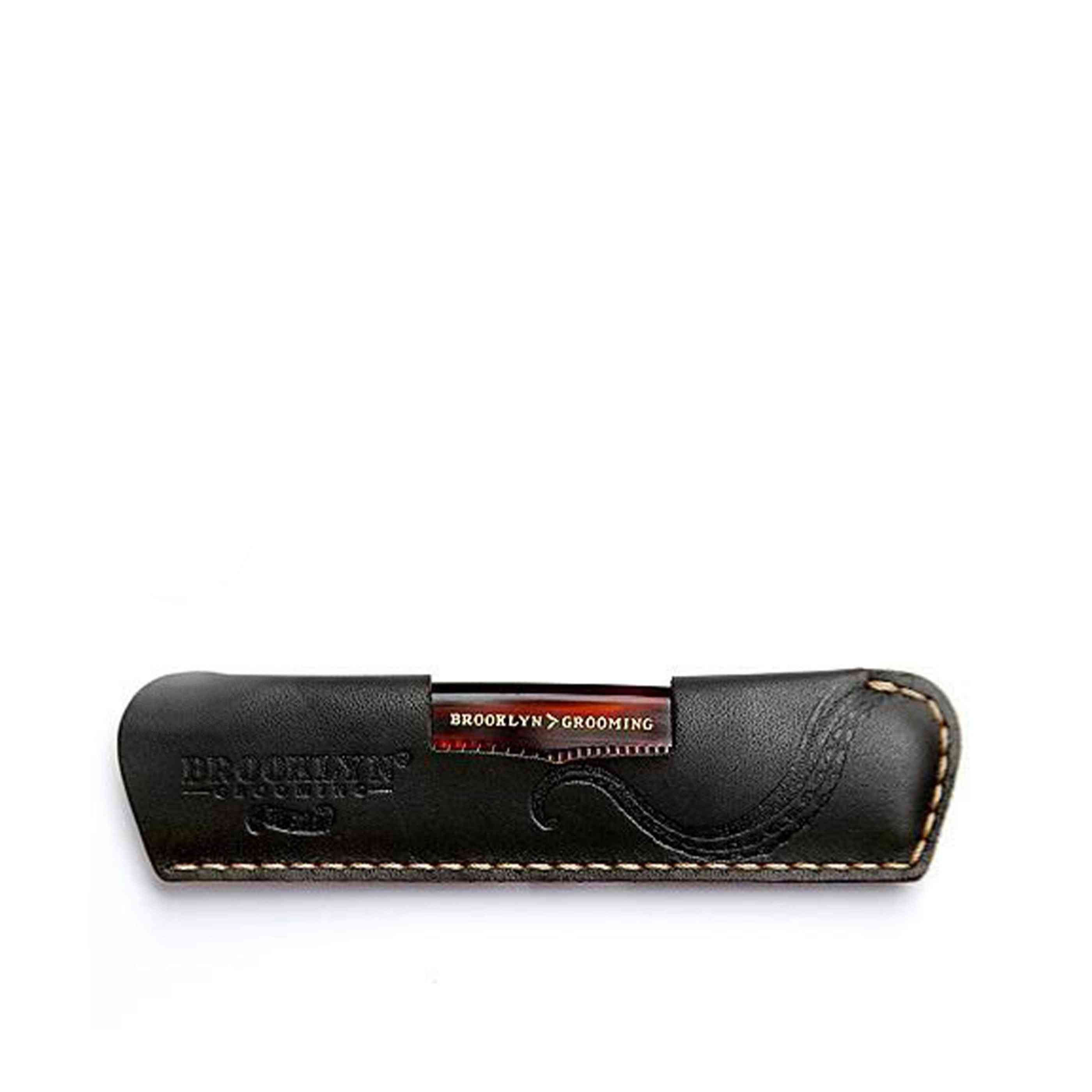 Leather Comb Sleeve With Pocket Comb