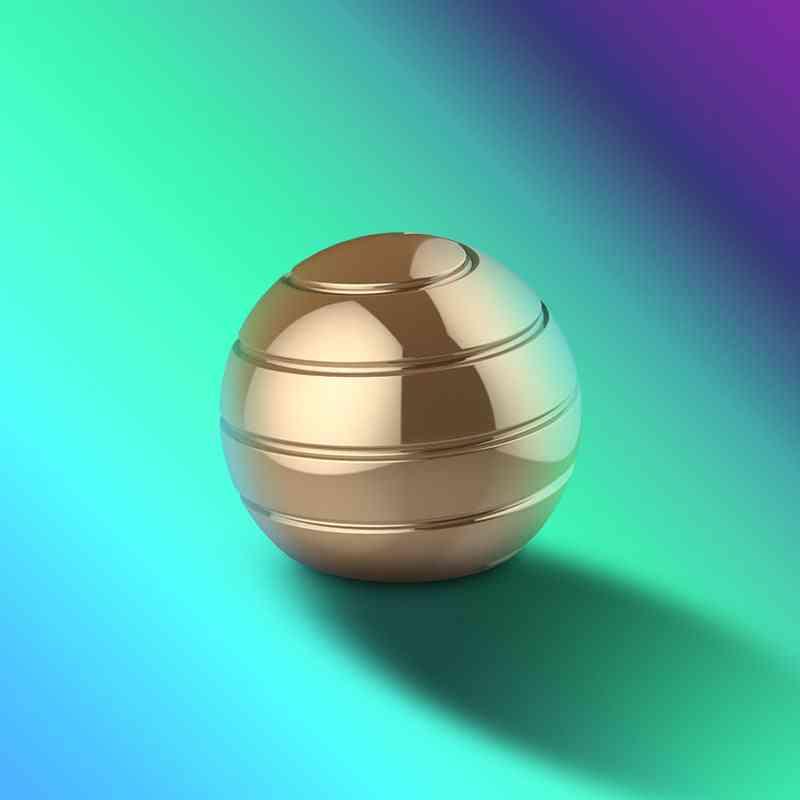 Novelty Decompression Gyroscope Desktop Toy Golden
