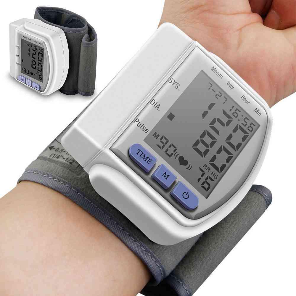 Digital Wrist Blood Pressure Monitor For Measuring Arterial Pressure