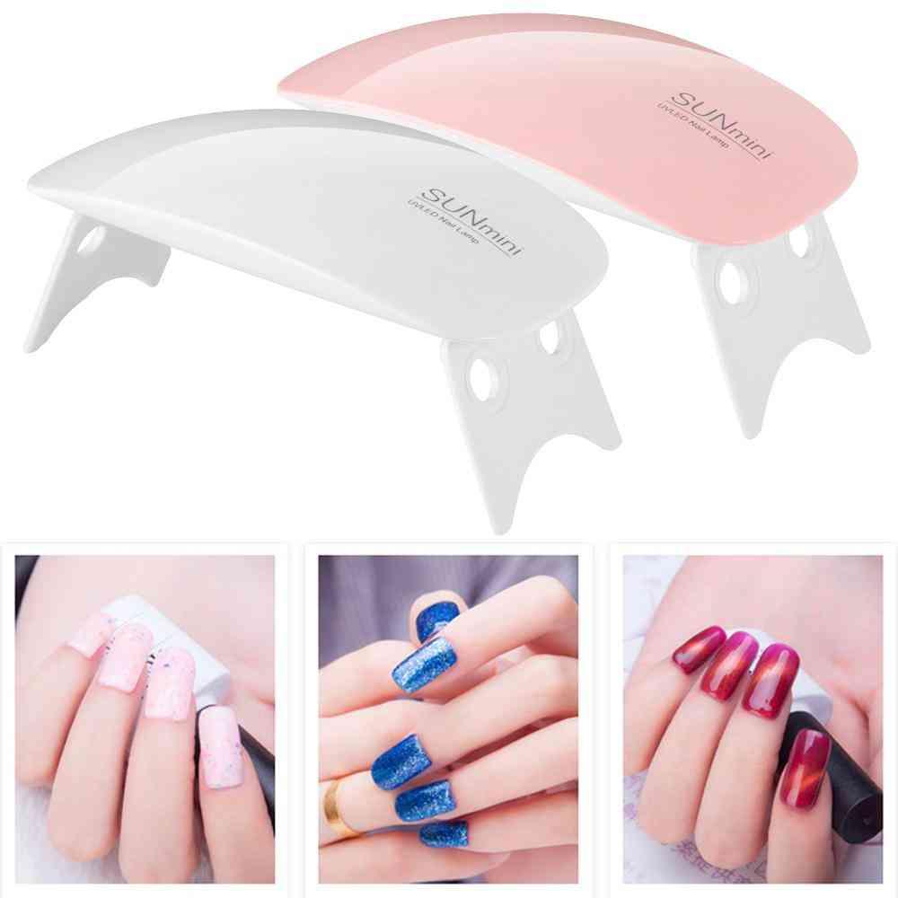 Portable Mini Nail Lamp Pink White Nail Dryer Machine Uv Led Lamp