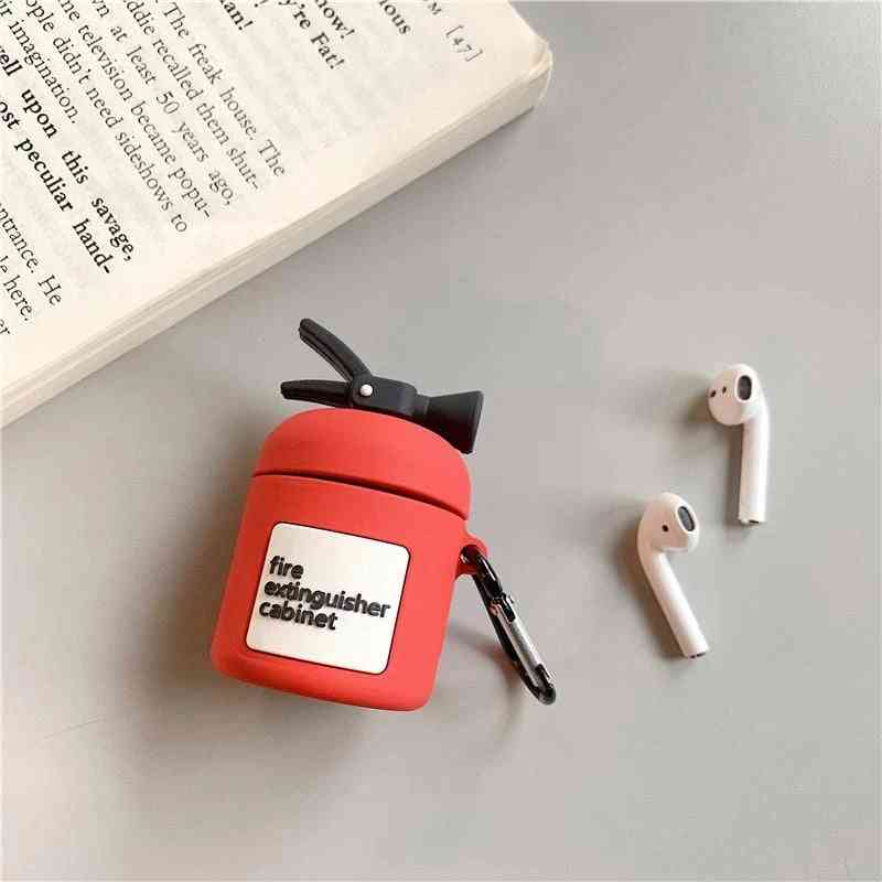 Airpods Fire Extinguisher Silicone Case Cover