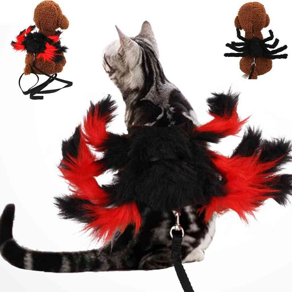 Pet Clothes Halloween Dress Up Spider Chest Strap