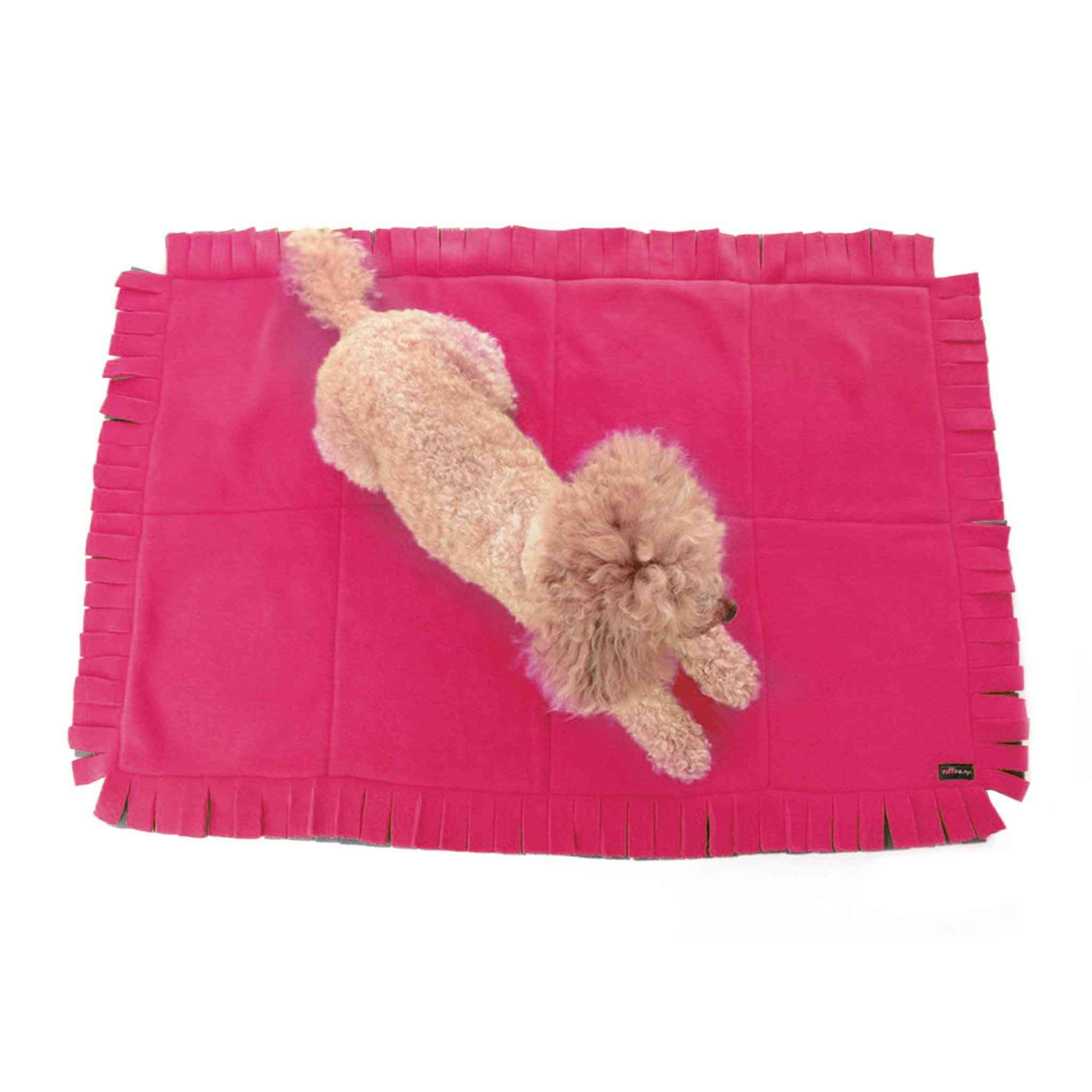 Little Dog Blanket With Chunky Fringe Border