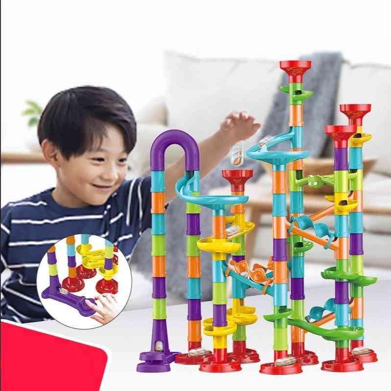 Marble Run Building Blocks 3d Maze Ball Race Track Roll Toy