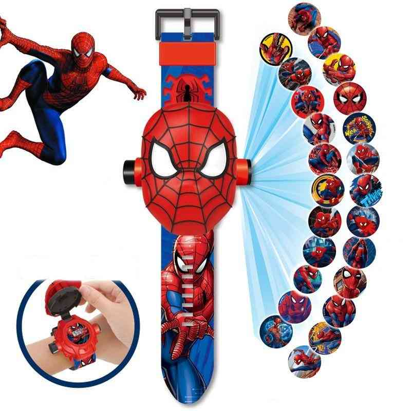 Superhero Cartoon Magic Projection Watch Figure Toy