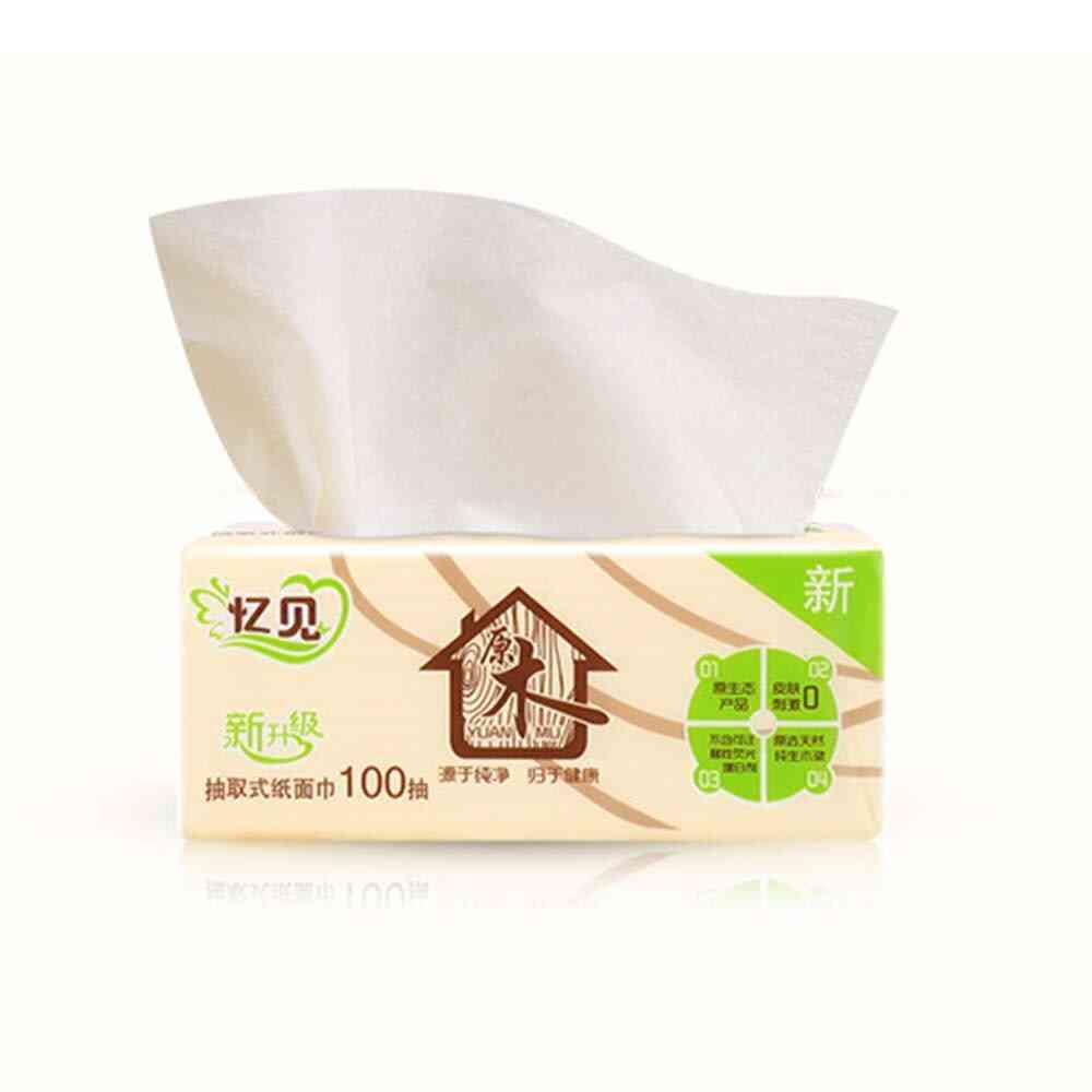 Wood Pulp Bamboo Facial Tissues
